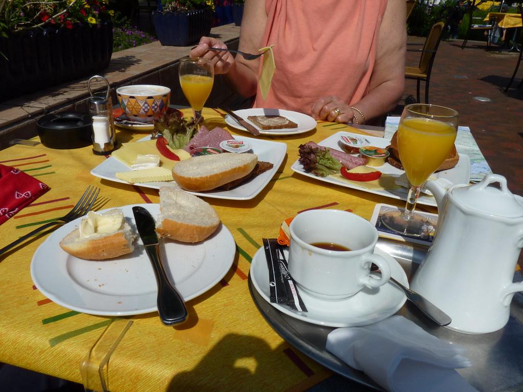 German Breakfast Our Breakfast In A Cafe In Glucksburg Dave Collier Flickr