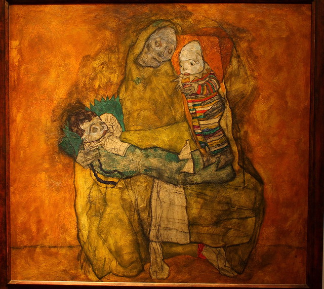 Egon SCHIELE, Mother with two children II, 1915