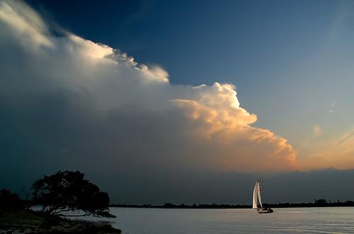 sunset water sailboat florida sail soe intracoastal