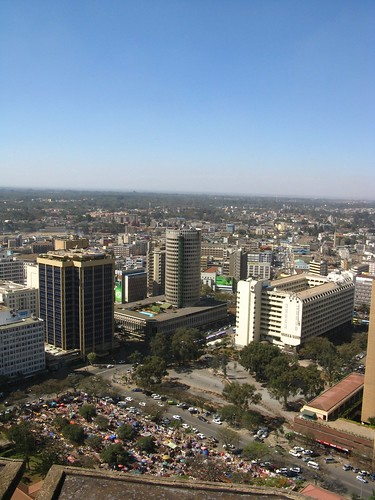 africa panorama view kenya nairobi kicc