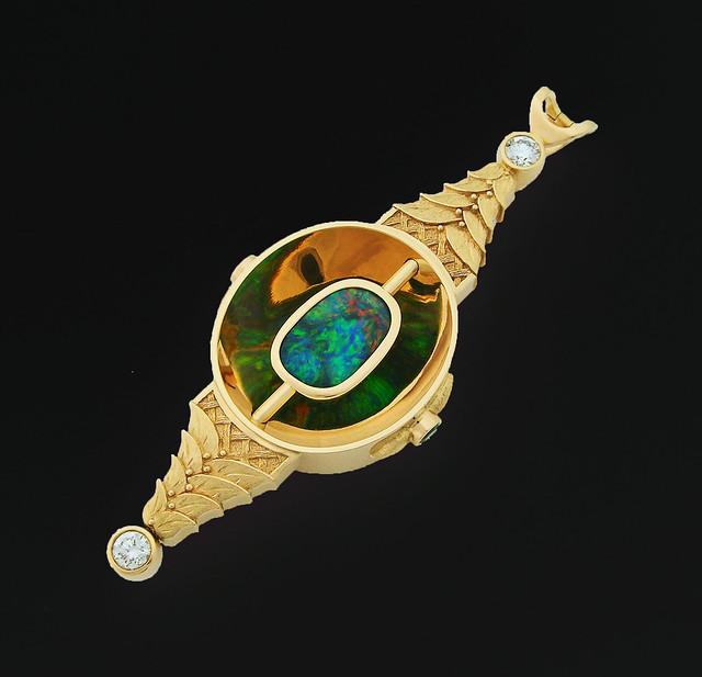 18K Black Opal Pendant / 3