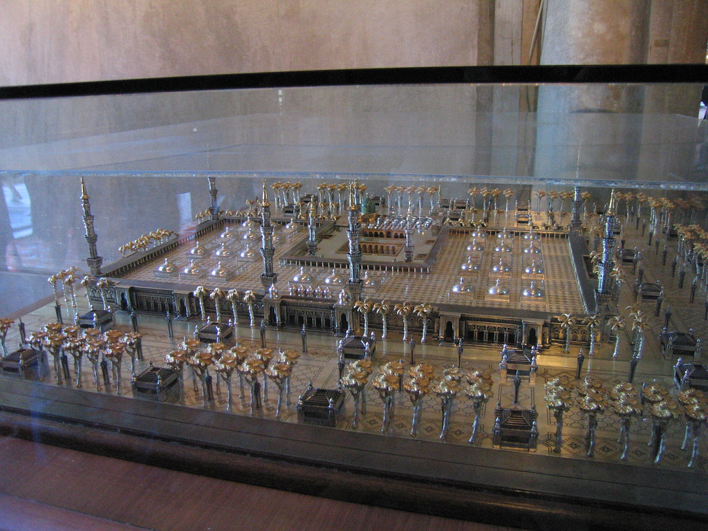 Model of Prophet Muhammad's Tomb in Medina inside The Blue