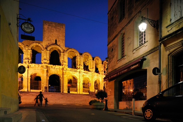 Evening walk at the Roman Amphitheatre, Arles, Provence