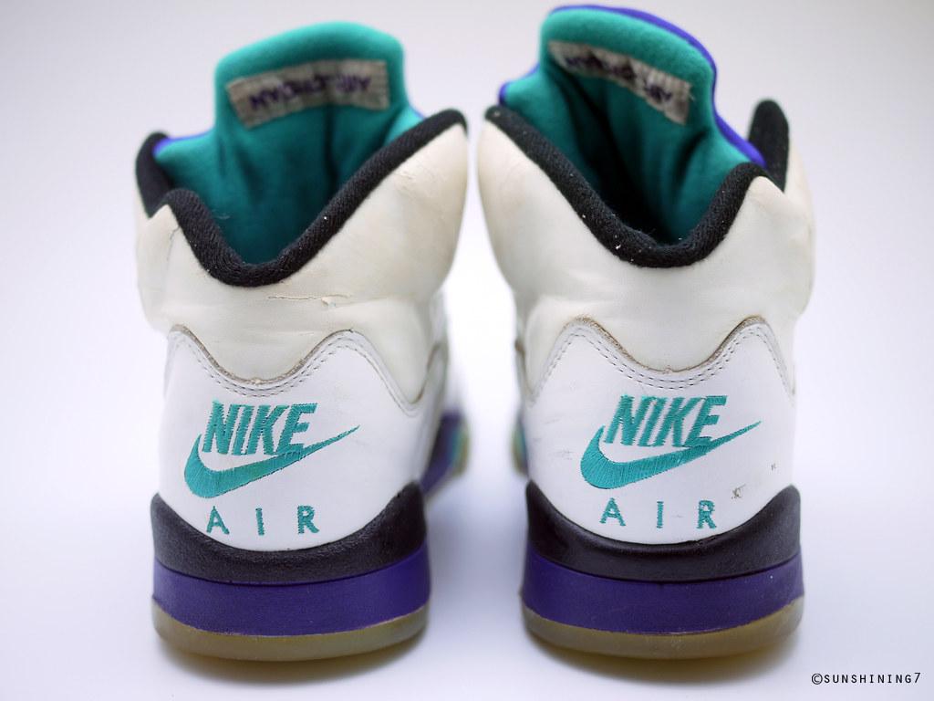 best cheap a9be2 07aea ... Sunshining7 - Nike Air Jordan V (5) - OG 1990 - White Purple Emerald