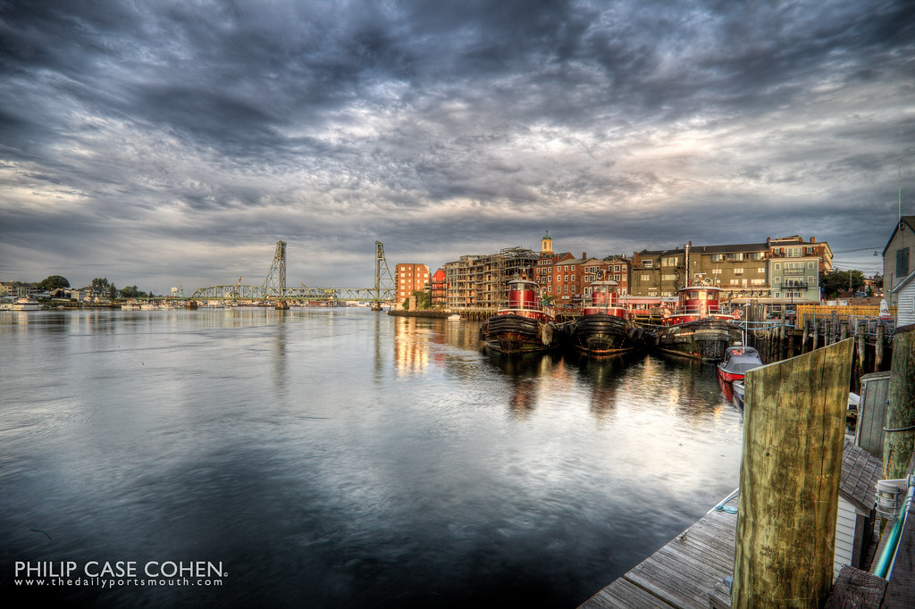 A Glimpse of Sun on the Waterfront by Philip Case Cohen