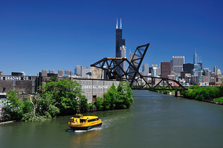 Chicago Water Taxi on the South Branch of the Chicago River | by vxla