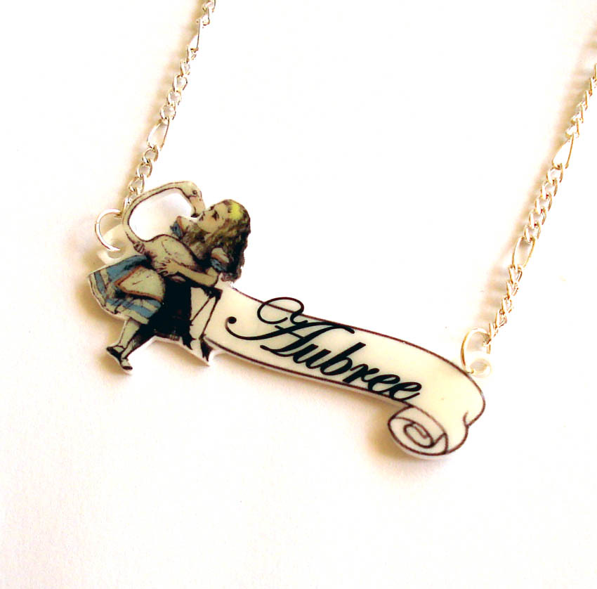 Custom Alice Nameplate Necklace | Handmade by me from acryli