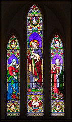 Good Shepherd with the Blessed Virgin and St John