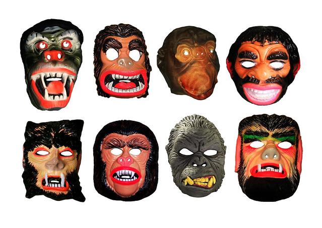 Apes Halloween Masks Vintage 0544