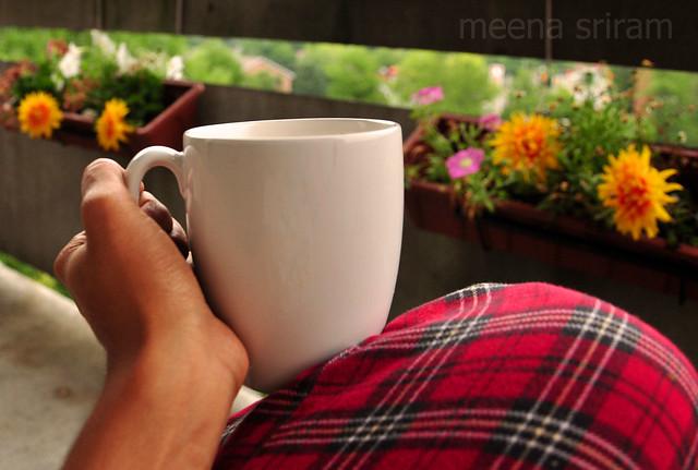Balcony tea...