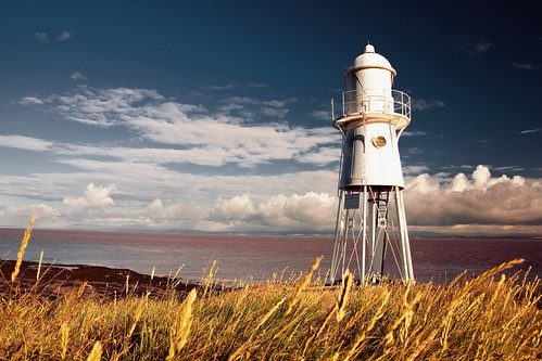 sea sky lighthouse portishead nore