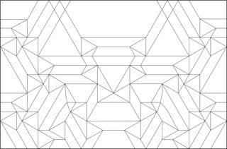 Tessellation Mask number 6 CP | by blue paper
