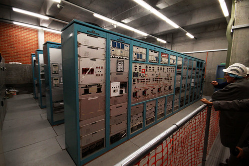 Control room, one of two in the substation: when it was opened the SECV controlled the input, and the Melbourne City Council controlled the output