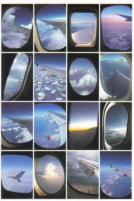 Airplane Window Views Postcard