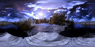 Lac Leon Infrared Panoramic - Equirectangular in Saguenay | by haban hero