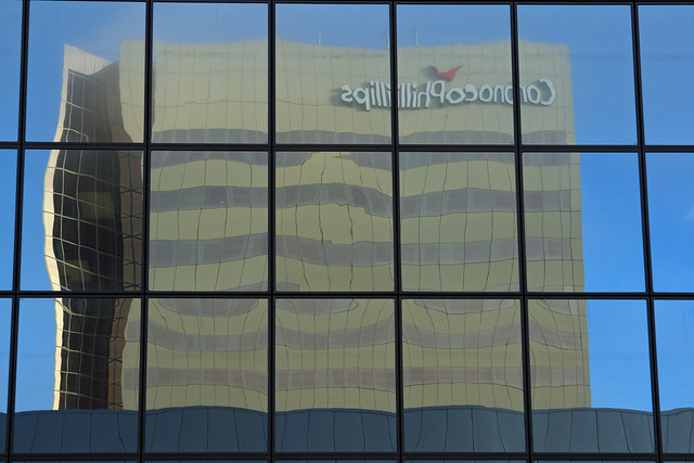 Conoco Phillips Building reflected in the Atwood Building
