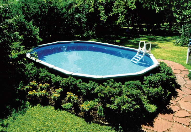 Landscaping Around An Above Ground Pool Swimming Pool Idea Flickr