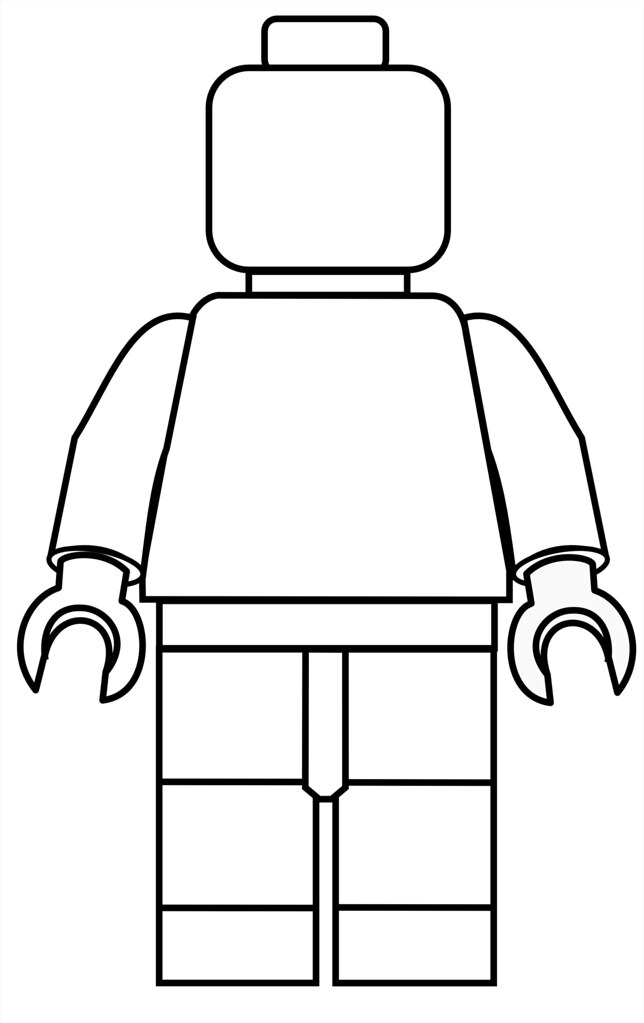 photo regarding Lego Minifigure Printable named Lego Mini Fig Drawing Template Dutchs Minifigures Flickr