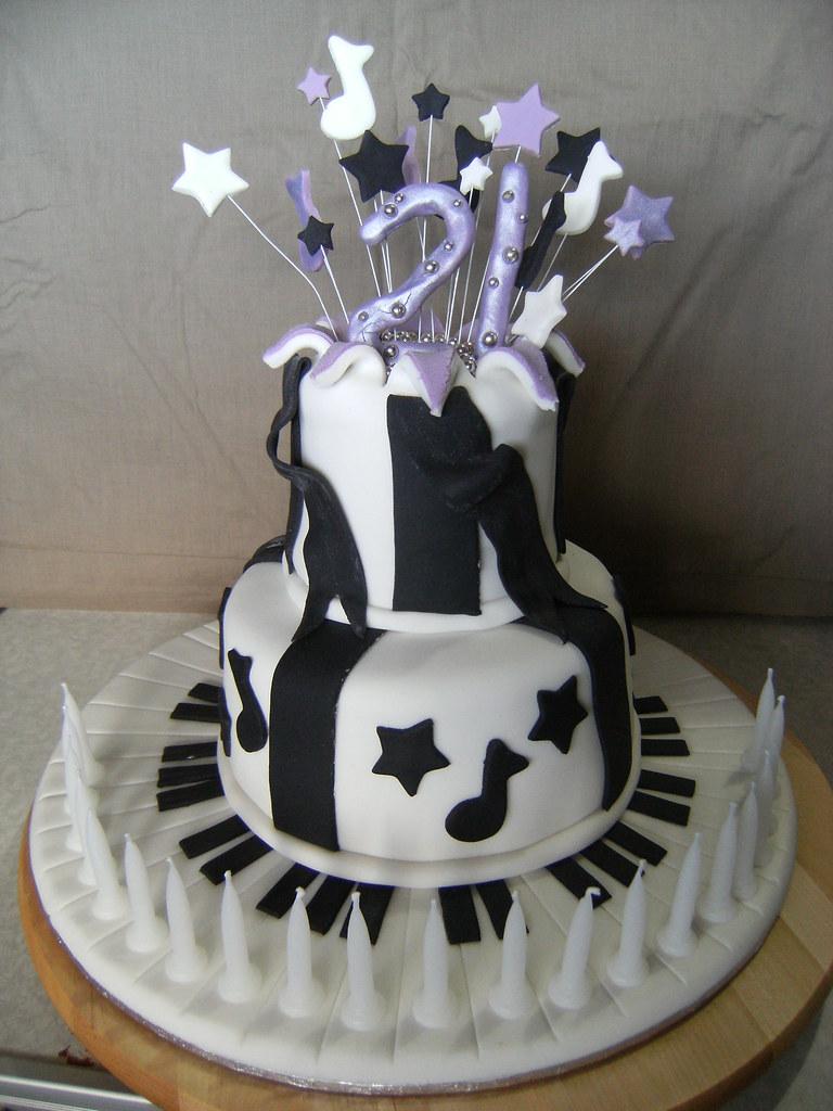 Tremendous Girls 21St Exploding Star Birthday Cake Elyse Clarke Flickr Funny Birthday Cards Online Elaedamsfinfo