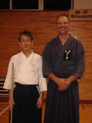 WIth Kurogo Sensei After Jo Practice | by Mark Tankosich