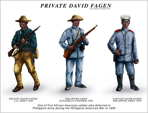 My illustration of David Fagen- African American soldier who defected to Filipino Army during the Philippine American War of 1899