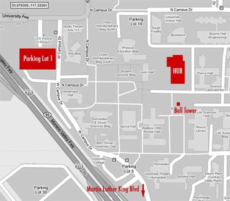 map-parkinglot-hub | UC Riverside Parking Lot 1 to 269 HUB ...