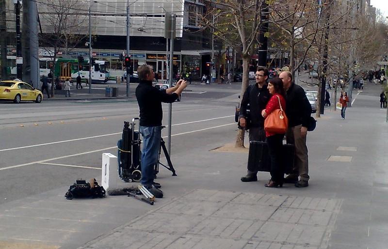 Stateline crew outside Media House