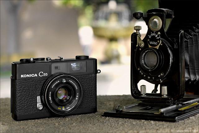 Konica C35 and OMFA Plate Camera