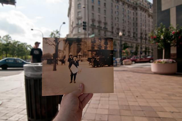 Looking Into the Past: Newsie, Willard Hotel, Washington, DC