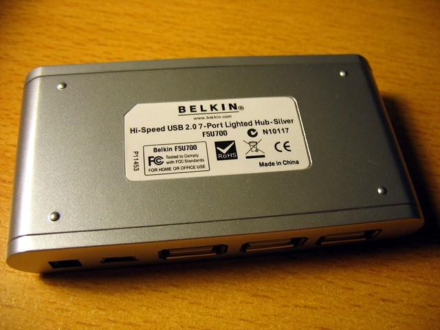 Belkin F5U700 USB hub back