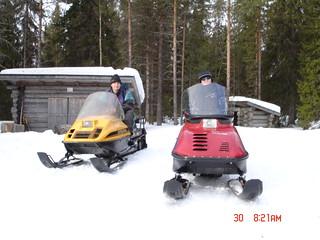 Snowmobiling in Kuusamo