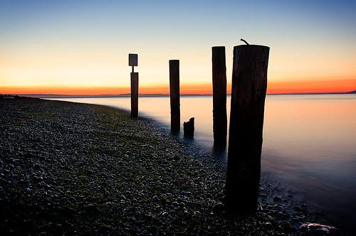 sunset beach water washington rocky pugetsound bluehour piling hansville pointnopoint blueshift