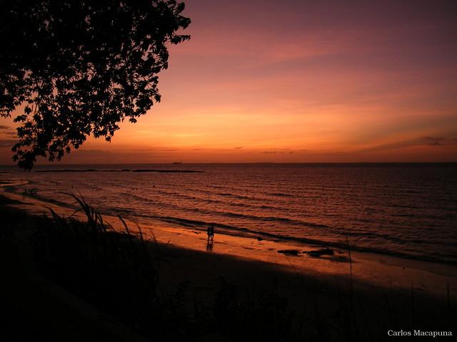 Pôr-do-sol na praia do Ariramba  - Ilha de Mosqueiro (Belém do Pará)