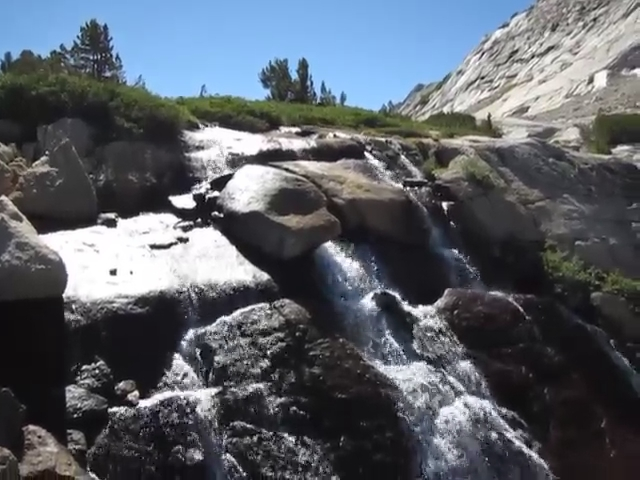 2858 Video of the waterfall below Townsley Lake