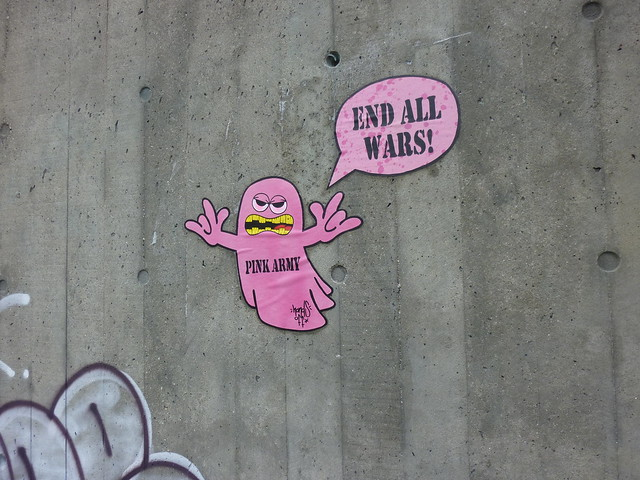Hands Off - Pink Army - End all wars