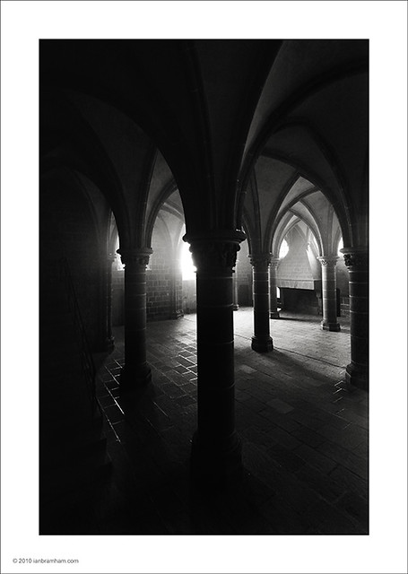 The Crypt, Mont St. Michel.