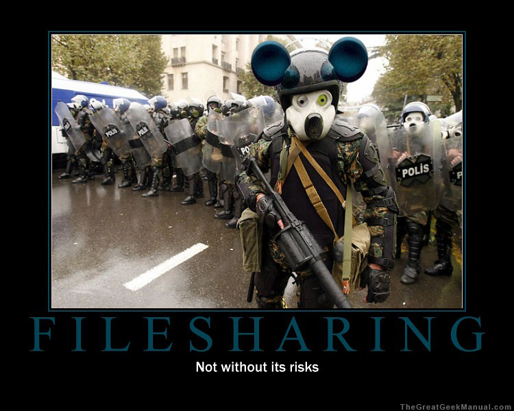 Motivational Poster: Filesharing | Another geeky motivationa