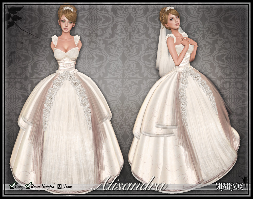 Alisandra Wedding Gown (Blush)
