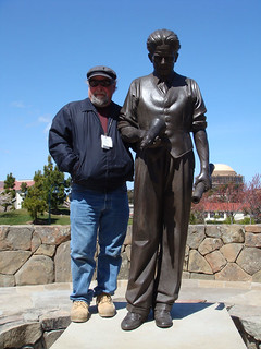 Philo T Farnsworth sculpture with sculptor Lawrence Noble | by Doug Kline