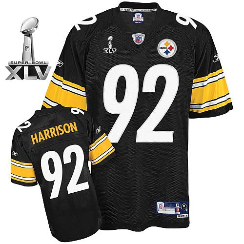 the best attitude b0d02 c7989 Pittsburgh Steelers #92 James Harrison Black Super Bowl XL ...