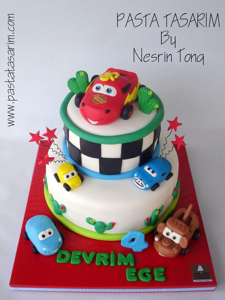 Tremendous Disney Cars Birthday Cake Devrim Ege Cake By Nesrin Tong Flickr Funny Birthday Cards Online Alyptdamsfinfo