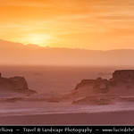 Iran - Sunset at Eroded 'sand castles' in Kaluts Desert - Kavir-e lut