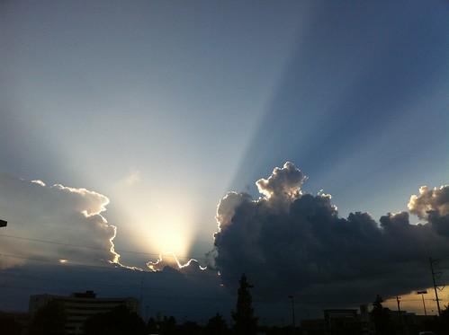 sun clouds louisiana lafayette iphone iphone4