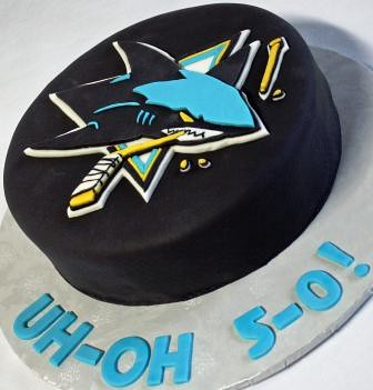 San Jose Sharks Hockey Puck Birthday Cake Oh No 5 0 Angle