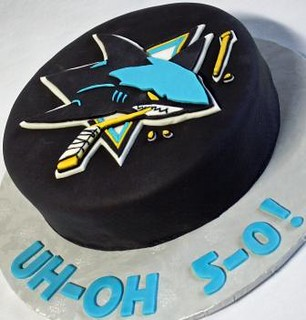 Stupendous San Jose Sharks Hockey Puck Birthday Cake Oh No 5 0 Angle Flickr Funny Birthday Cards Online Inifofree Goldxyz
