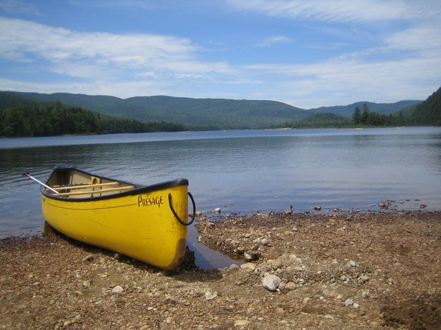 Canoeing in Mont Tremblant National Park