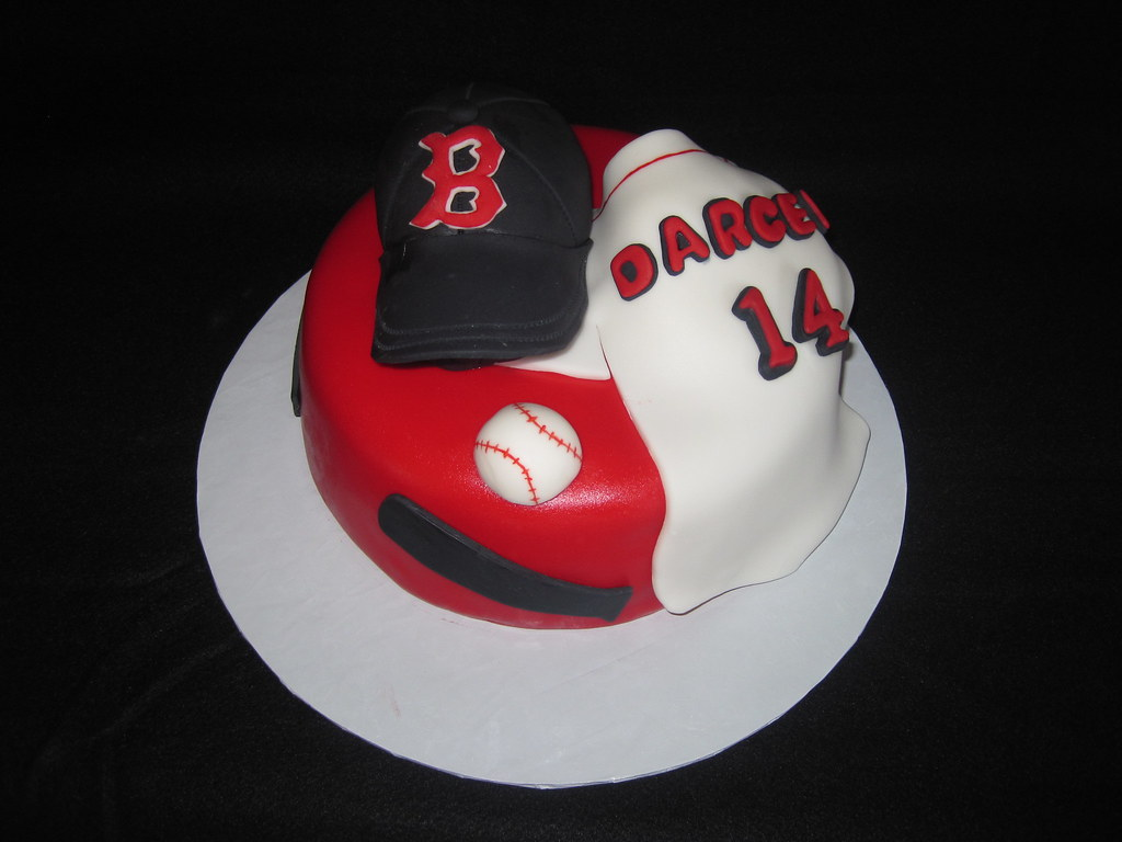 Prime Boston Red Sox Birthday Cake The Baseball Cap Was The Hit Flickr Personalised Birthday Cards Paralily Jamesorg
