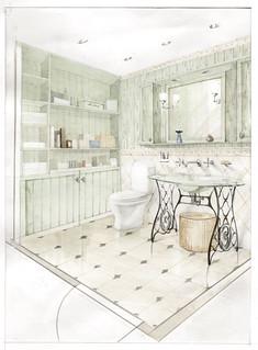 Bathroom Interior Sketch Bathroom Interior Sketch Flickr