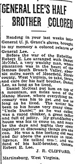 General Robert E Lee's Half Brother Was Black - December 20, 1924 | by vieilles_annonces