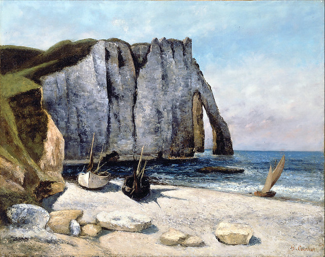 Gustave Courbet:  Falaise d'Étretat aprés l'orage, la Porte d'Aval (1869)